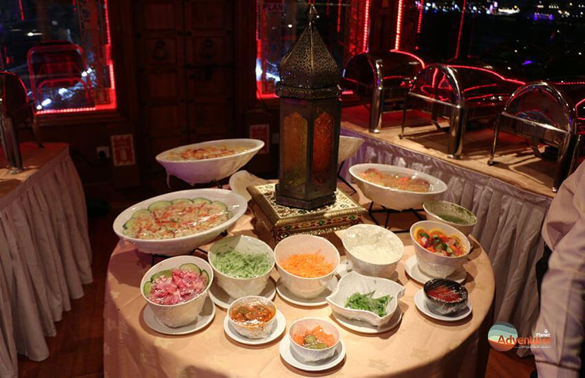 dhow cruise buffet-starter
