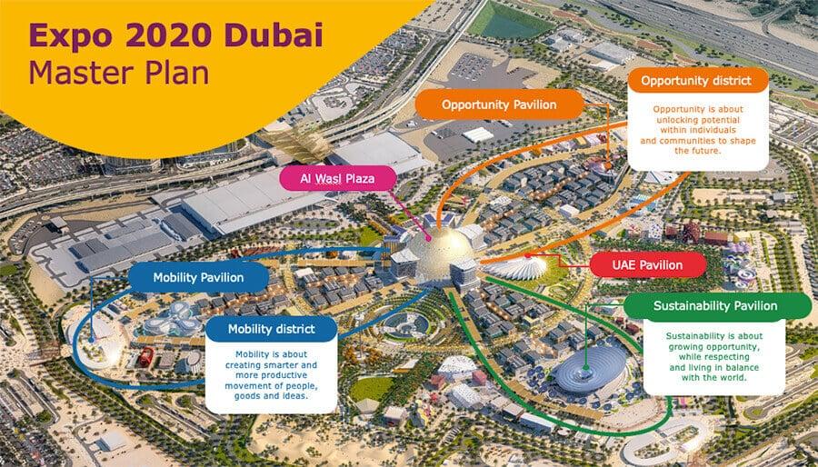 dubai expo 2020 master plan